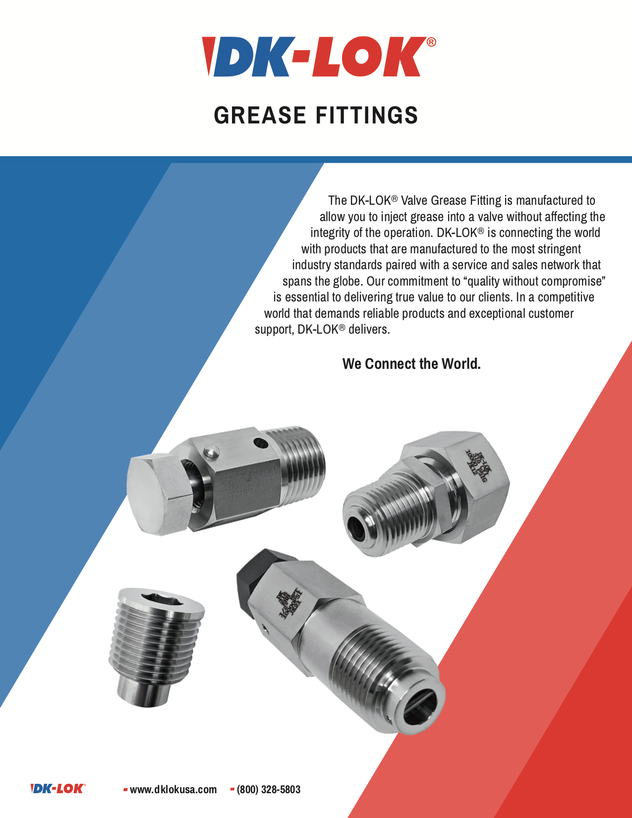 DK-LOK Grease Fittings Catalog Image
