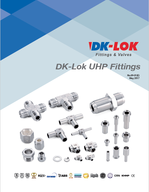 catalog cover for dk-lok uhp fittings