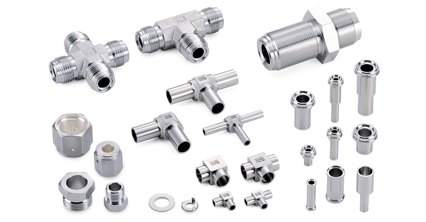 Photo of oxygen clean fittings and valves