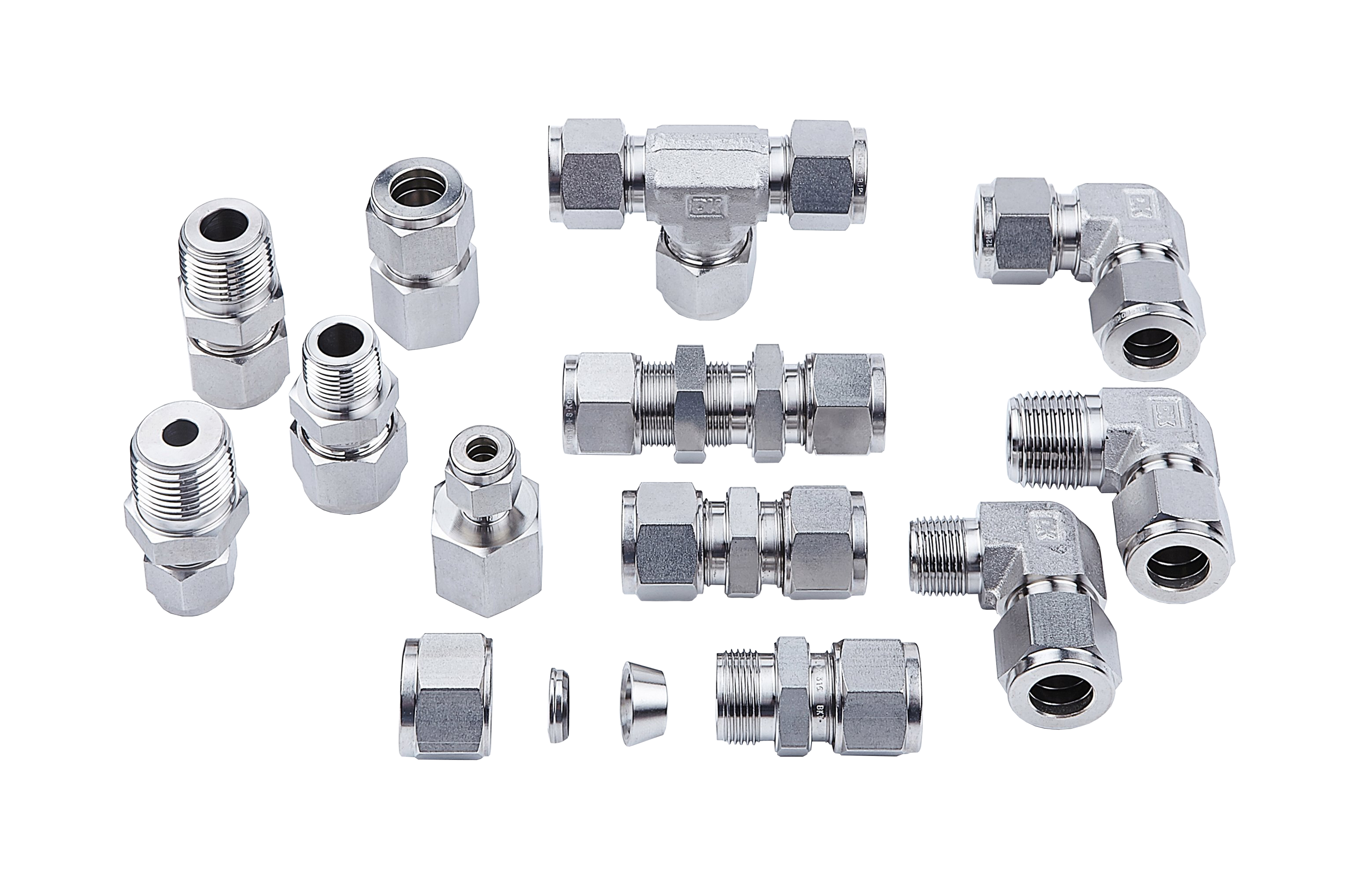 Stainless Steel Double Ferrule Tube Fittings