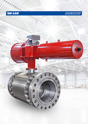 catalog page of trunnion side entry ball valve vbst