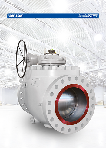 catalog page of trunnion top entry ball valve vbtt