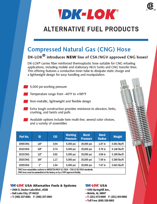 image of alternative fuel products flyer