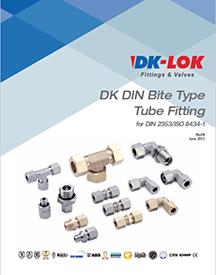 catalog cover for dk din bite type tube fittings