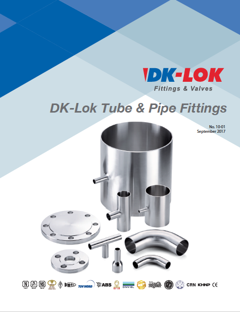 catalog cover for dk-lok tube and pipe fittings