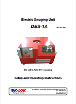 catalog page for electric swaging unit