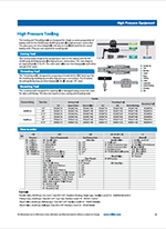 catalog page for high pressure tooling series