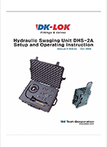 catalog page for hydraulic swaging unit